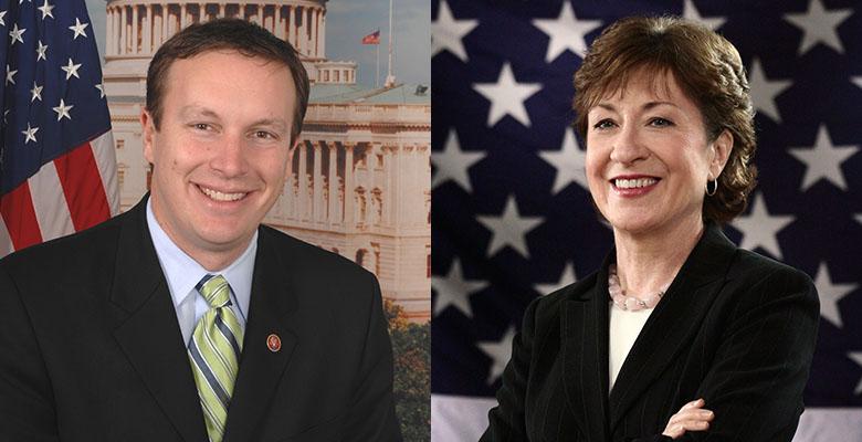 Senators Chris Murphy (D-CT) and Susan Collins (R-ME)
