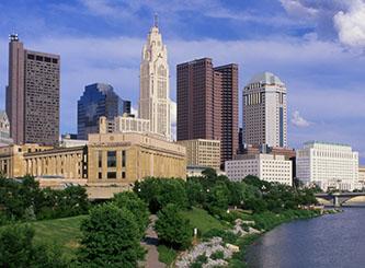 Columbus skyline (Photo Credit: Rod Berry / Ohio Stock Photography)
