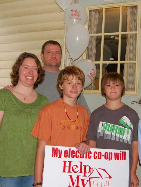 Drummond-Henking family celebrates their energy retrofit as part of the
