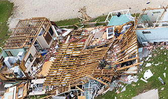 Damage caused by Hurricane Harvey in Rockport, Texas (Credit: Army National Guard, Malcolm McClendon)