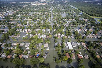 Extensive flooding caused by Harvey in southeastern Texas (Credit: Air National Guard / Staff Sgt. Daniel J. Martinez)