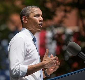 President Obama announcing the Climate Action Plan at Georgetown University.