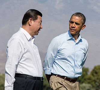 President Xi Jinping and President Barack Obama during an earlier meeting in Rancho Mirage, CA, on June 8, 2013 (Official White House Photo by Pete Souza)