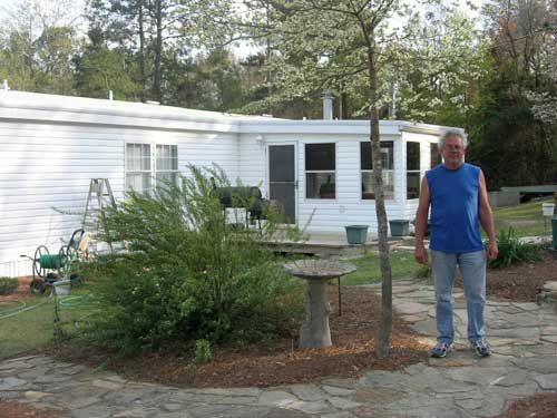 Robert Hersey at his rural South Carolina home, which recently received a roof retrofit