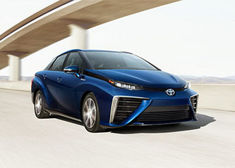 Toyota's 2017 Mirai Fuel Cell Vehicle (photo courtesy of Toyota).