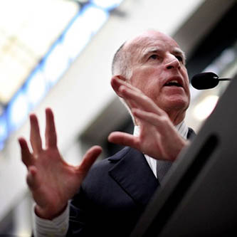 California Governor Jerry Brown, shown above. Courtesy of business.ca.gov.